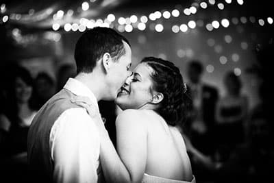 Wedding Couple in an Embrace