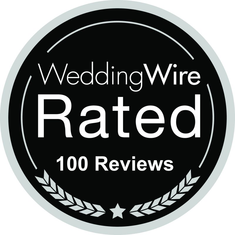 Wedding Wire 100 Reviews Logo